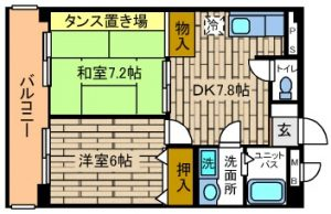梅が丘森ビル406_間取図